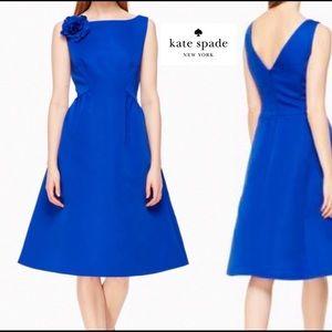 NWT Kate Spade Rambling Roses Cobalt Blue Dress